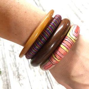 Set of four vintage bangles.